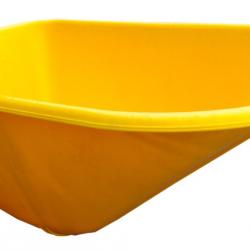 Fort kruiwagenbak 100 ltr. voor SMB 100 geel