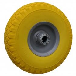 Fort kruiwagenwiel geel voor SMB 100 10.13 kogellager 13 cm. as