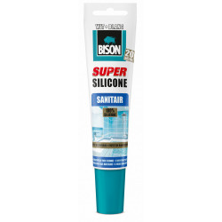 Bison siliconenkit sanitair wit (150 ml.)