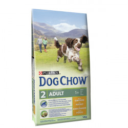 """Hondenvoer """"Dog chow"""" adult Kip Rijst (14 kg)"""
