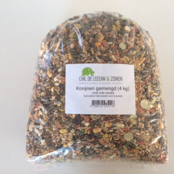 Konijnenvoer gemengd met rode wortel (4 kg)