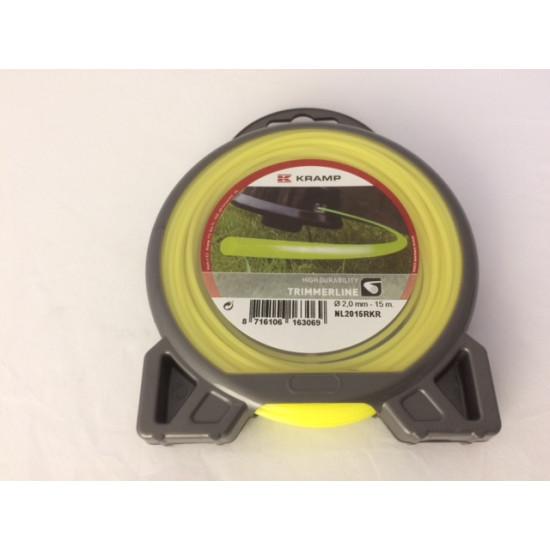 Trimmerlijn 2,0 mm. (15 mtr) geel