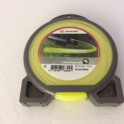 Trimmerlijn 2,4 mm. (15 mtr) geel