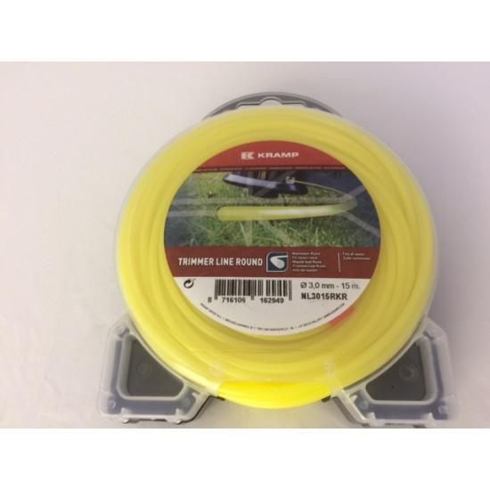 Trimmerlijn 3,0 mm. (15 mtr) geel