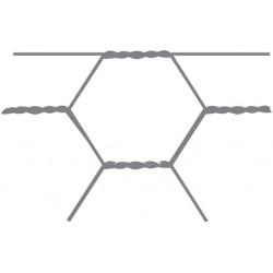 Gaas (Avigal) zeskant (verzinkt) 50,0 x 1200 x 1,0 mm (per meter)