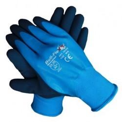Werkhandschoenen bull-flex gecoat blauw waterdicht 10305 maat XL