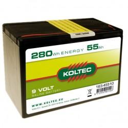 Koltec batterij 9V- 55Ah Luchtzuurstof klein (voorraad)