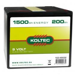 Koltec batterij 9V 200Ah Alkaline groot (voorraad)