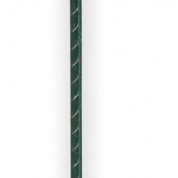 Koltec weidepaal veerstaal groen met krulisolator (105 cm) rood