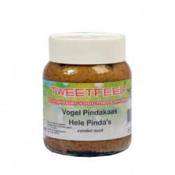 Tweetfeed Pindakaaspot hele pinda's 360 gram.