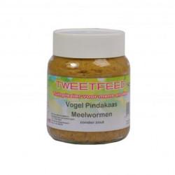 Tweetfeed Pindakaaspot meelwormen 360 gram.