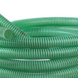 """Zuigslang 38 mm. (1 1/2"""") groen (p/mtr.)"""