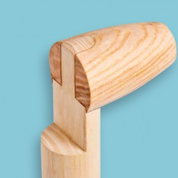 Rieksteel 85 cm. voor vork met aangesmede veren