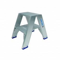 Solide dubbele trap aluminium 2 x 2 treden
