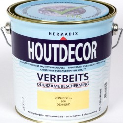 Hermadix Houtdecor Verfbeits (2,5 Ltr.) 608 zonnegeel