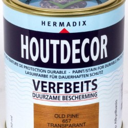 Hermadix Houtdecor transparante beits 657 (750 ml.) old pine
