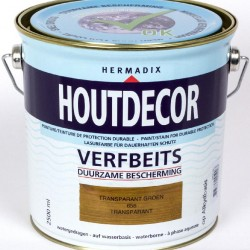 Hermadix Houtdecor transparante beits (2,5 Ltr.) 656 transparant groe