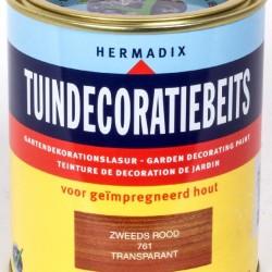 Hermadix Tuindecoratiebeits (750 ml.) 761 Zweeds rood