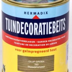 Hermadix Tuindecoratiebeits (750 ml.) 763 Olijf groen