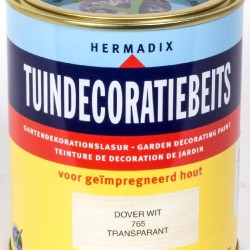 Hermadix Tuindecoratiebeits (750 ml.) 765 Dover wit