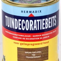 Hermadix Tuindecoratiebeits (750 ml.) 766 Bruin (naturel)