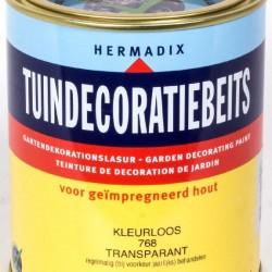 Hermadix Tuindecoratiebeits (750 ml.) 768 kleurloos transparant