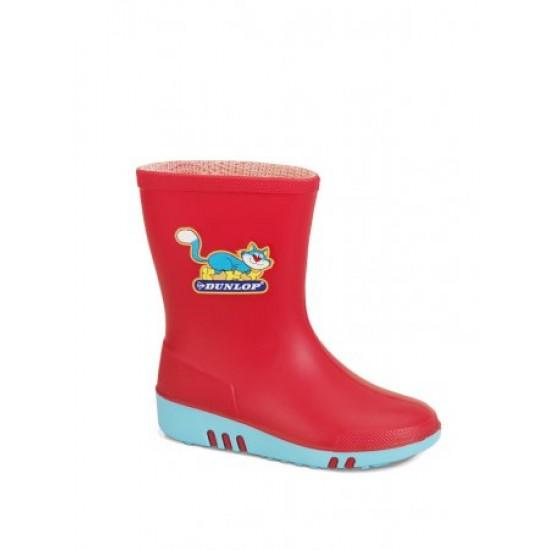 Dunlop kinderlaarzen (K130 514) (rood/blauw) 24