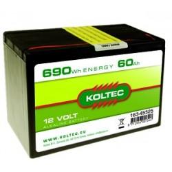 Koltec batterij 12V-60Ah Alkaline klein (voorraad)