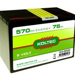 Koltec batterij 9V- 75Ah Alkaline