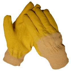 Werkhandschoenen PVC manchet (geel)