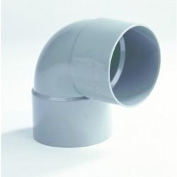PVC Bocht 125 mm (kort) mof/mof 90° LV