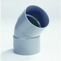 PVC Bocht 125 mm mof/mof 45° LV