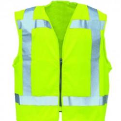 Sioen veiligheidsvest 9052 RWS met rits (geel) maat L