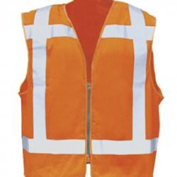 Sioen veiligheidsvest 9052 RWS met rits (oranje) maat L