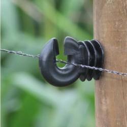Koltec kunststof schrikdraad zwart 100 mtr.