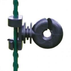 Koltec klem-isolator (klemfix) kunststof (zwart) voor veerstalen paal