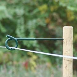 Koltec krulstaartafstandisolatoren groen 8 mm. 40 cm.