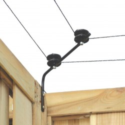 Koltec isolatorsteunen voor hoeken voor op schutting (2 st.)