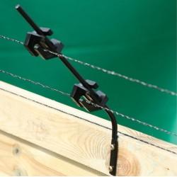 Koltec isolatorsteunen met isolatoren voor op schutting (4 stuks)