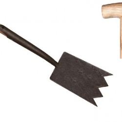 De wit shark spade met steel 75 cm.