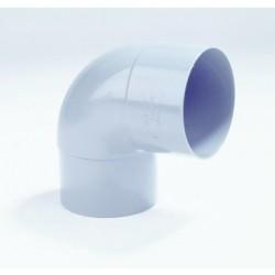PVC Bocht 100 mm mof/spie verjongd 87°30' LV (HWA)