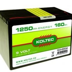 Koltec batterij 9 Volt 160 Ah alkaline (voorraad)