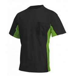 Tricorp T-shirt Bi-Color Borstzak zwart-lime (TT2000) Maat: XS