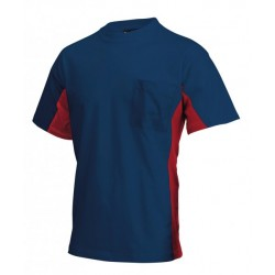 Tricorp T-shirt Bi-Color Borstzak navy-rood (TT2000) Maat: XS