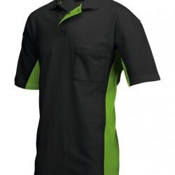 Tricorp Poloshirt Bi-Color Borstzak zwart-lime (TP2000) Maat: XS