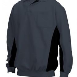 Tricorp Poloshirt Bi-Color Borstzak d.grijs-zwart (TP2000) Maat: M