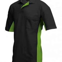 Tricorp Poloshirt Bi-Color Borstzak zwart-lime (TP2000) Maat: L