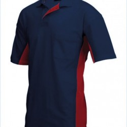 Tricorp Poloshirt Bi-Color Borstzak navy-rood (TP2000) Maat: L