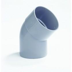 PVC Bocht 160 mm mof/spie 45° LV
