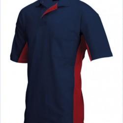 Tricorp Poloshirt Bi-Color Borstzak navy-rood (TP2000) Maat: XL